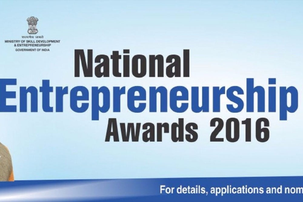 National Entrepreneurship Awards 2016 to Encourage Entrepreneurial Culture in India