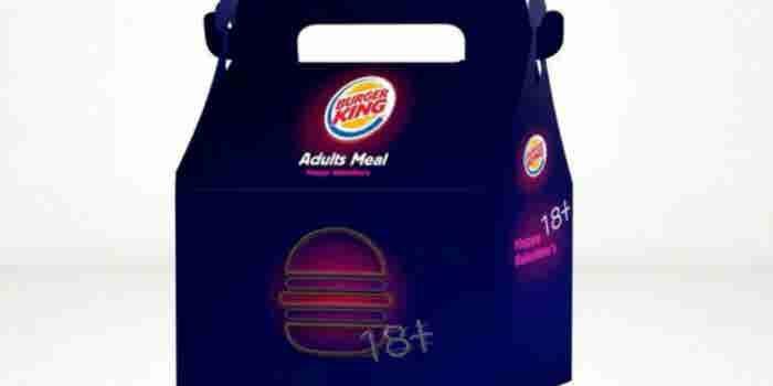 Burger King ofreció juguetes eróticos en San Valentín