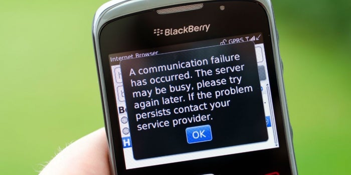 La participación de mercado de BlackBerry acaba de llegar a 0