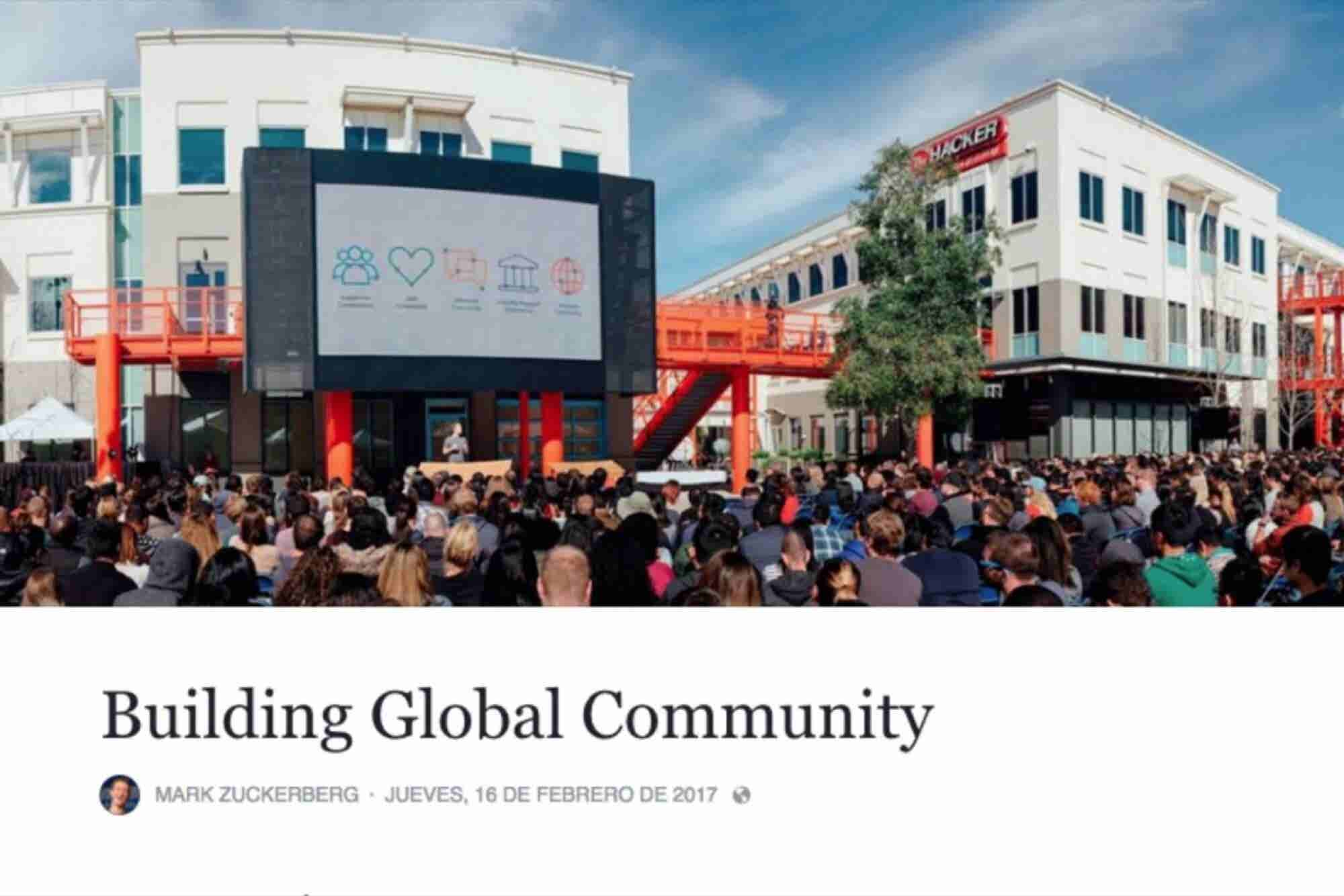Los 5 puntos que propone Facebook para construir el mundo que queremos