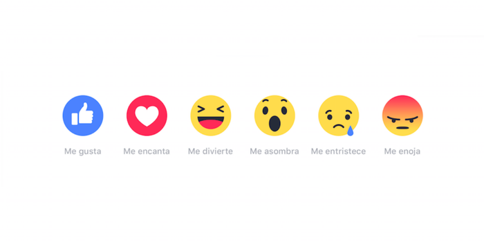 ¡Nos encanta! Facebook cumple un año con sus reacciones