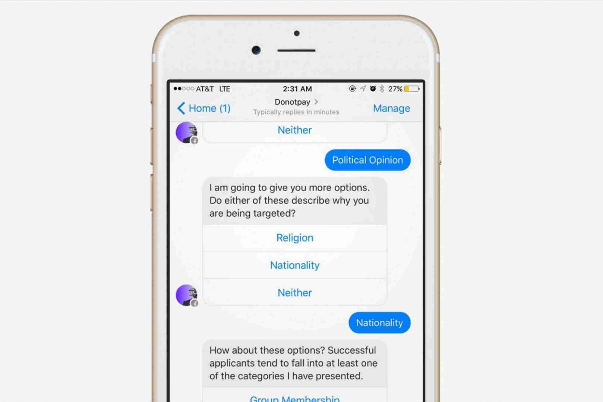 Parking Ticket Chatbot Now Helps Refugees Claim Asylum
