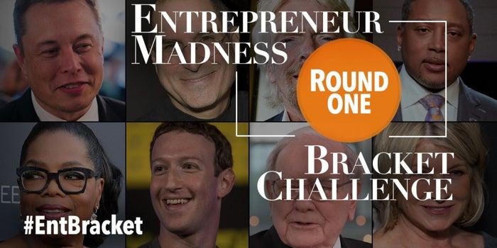 Entrepreneur Madness Bracket Challenge: Choose Your Favorite Mogul