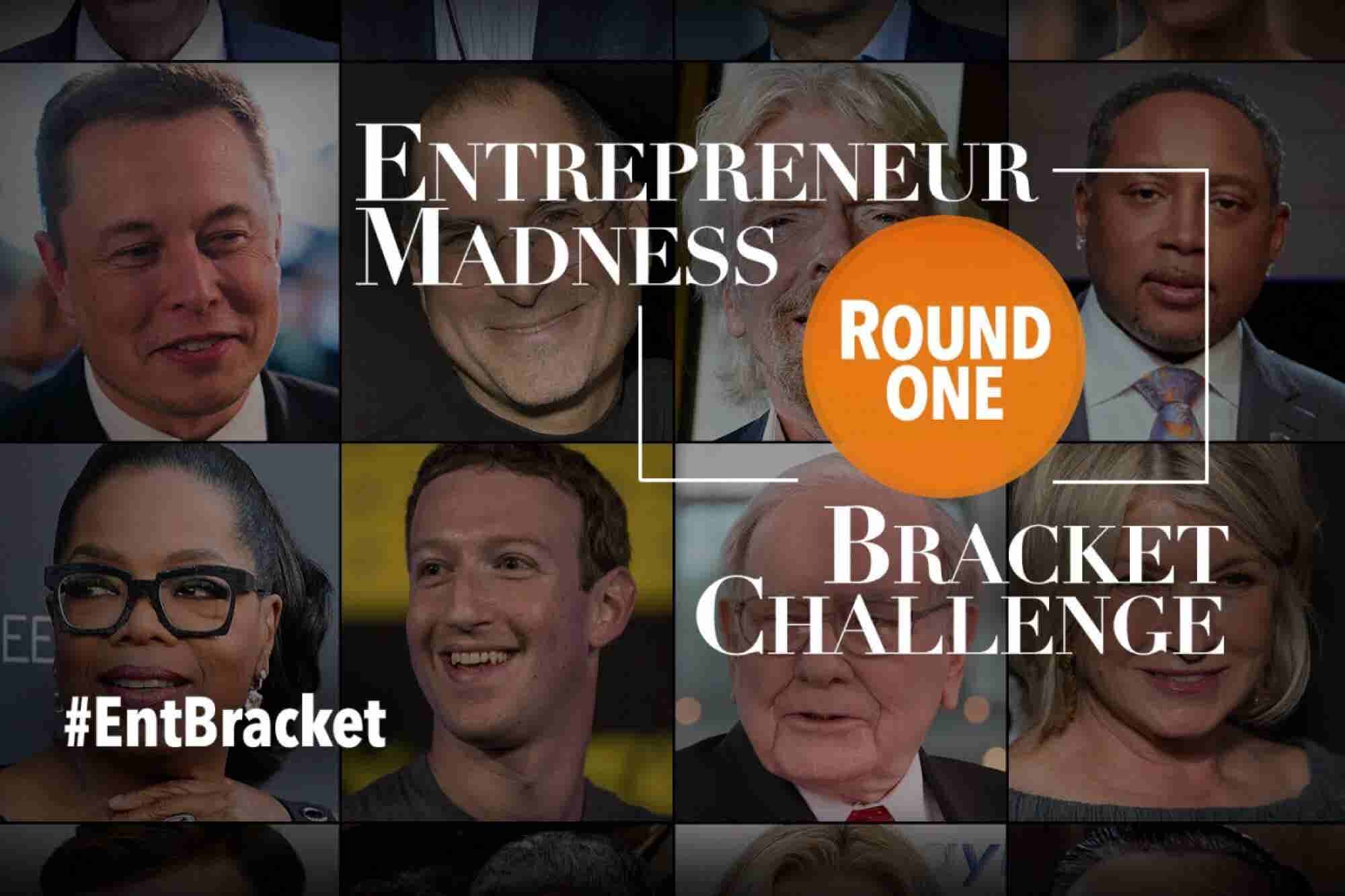 Entrepreneur Madness Bracket Challenge: Choose Your Favorite Creator