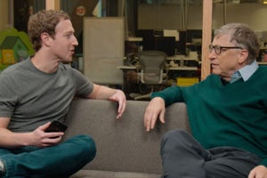 Watch Mark Zuckerberg Ask Fellow Harvard Dropout Bill Gates for Advice on His Harvard Commencement Speech