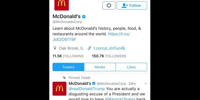 El 'fail' en Twitter de McDonald's