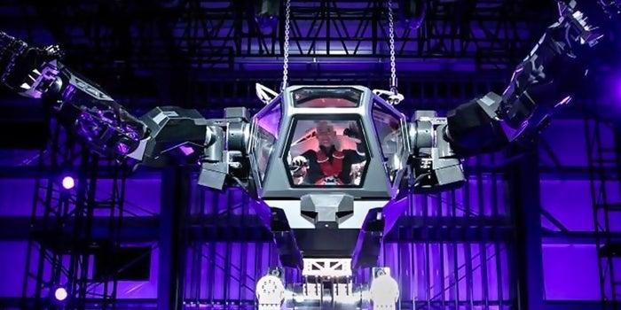 Jeff Bezos Pilots a Giant Robot