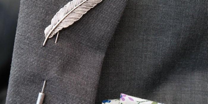 The Executive Selection: BOXKnocks Feather Lapel Pin