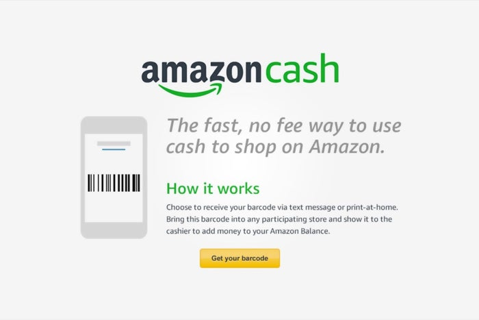 No Credit Card Pay With Amazon Cash