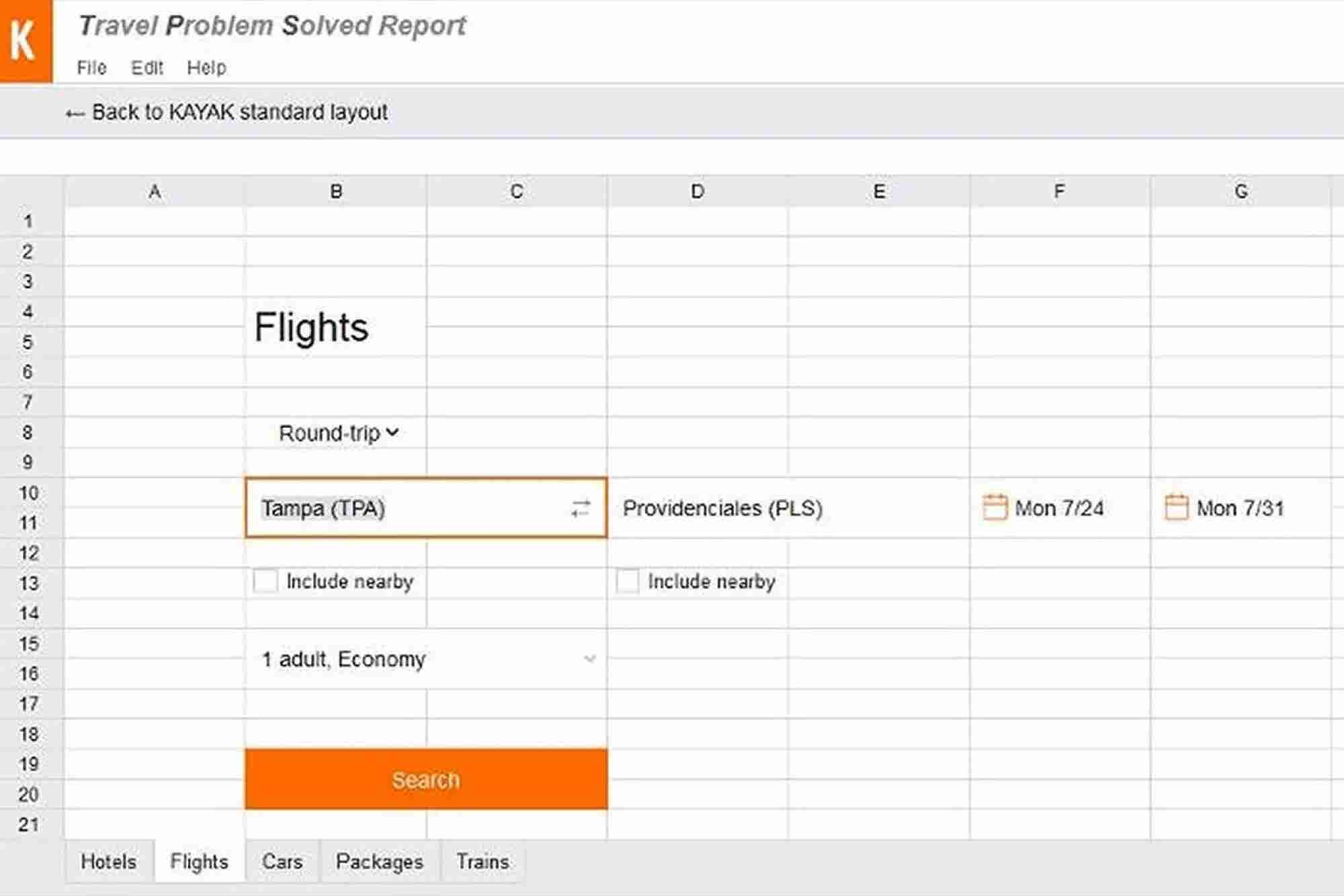 Plan a Getaway at Work With Kayak's Spreadsheet Decoy
