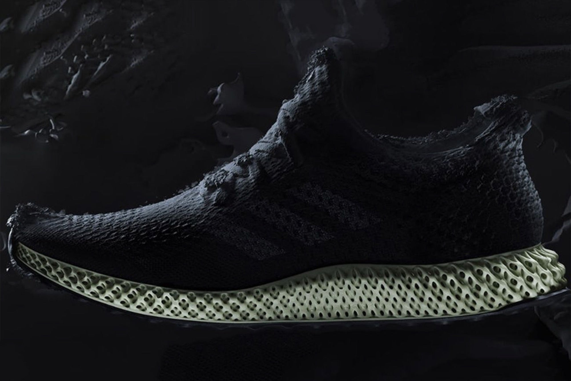 Pirata negro sencillo  Nab an Adidas 3D-Printed Sneaker This Fall