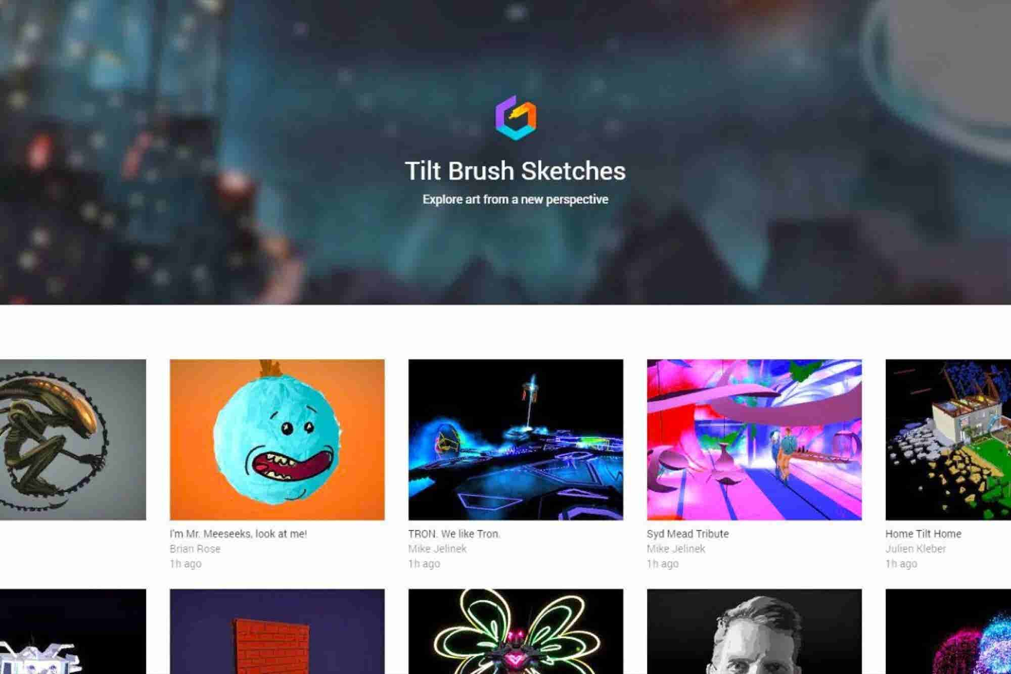 Show Off Your 3D Art in Tilt Brush's New Online Gallery