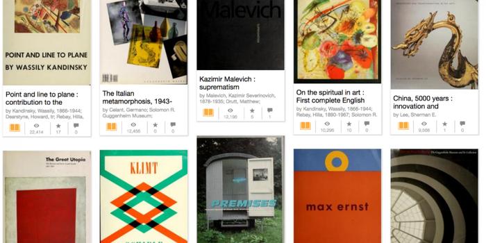 200 libros de arte para descargar gratis del Museo Guggenheim