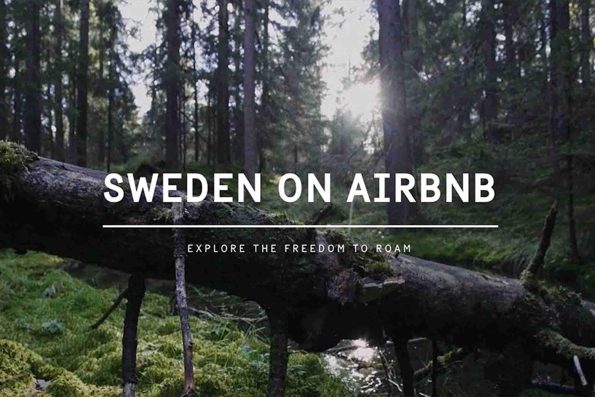 Sweden Lists Itself on Airbnb for Free