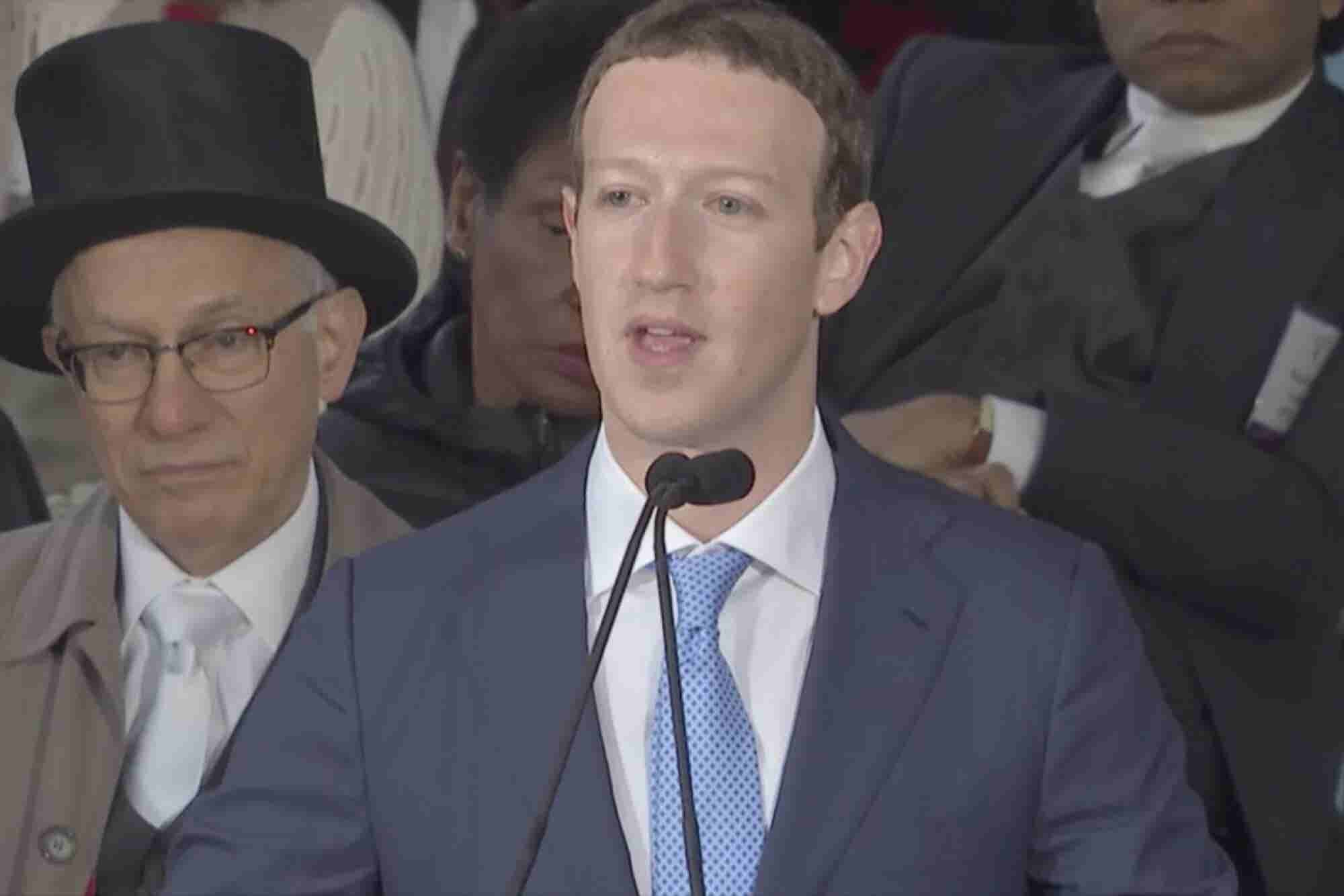 Mark Zuckerberg Encourages Harvard Grads to Create a Sense of Purpose