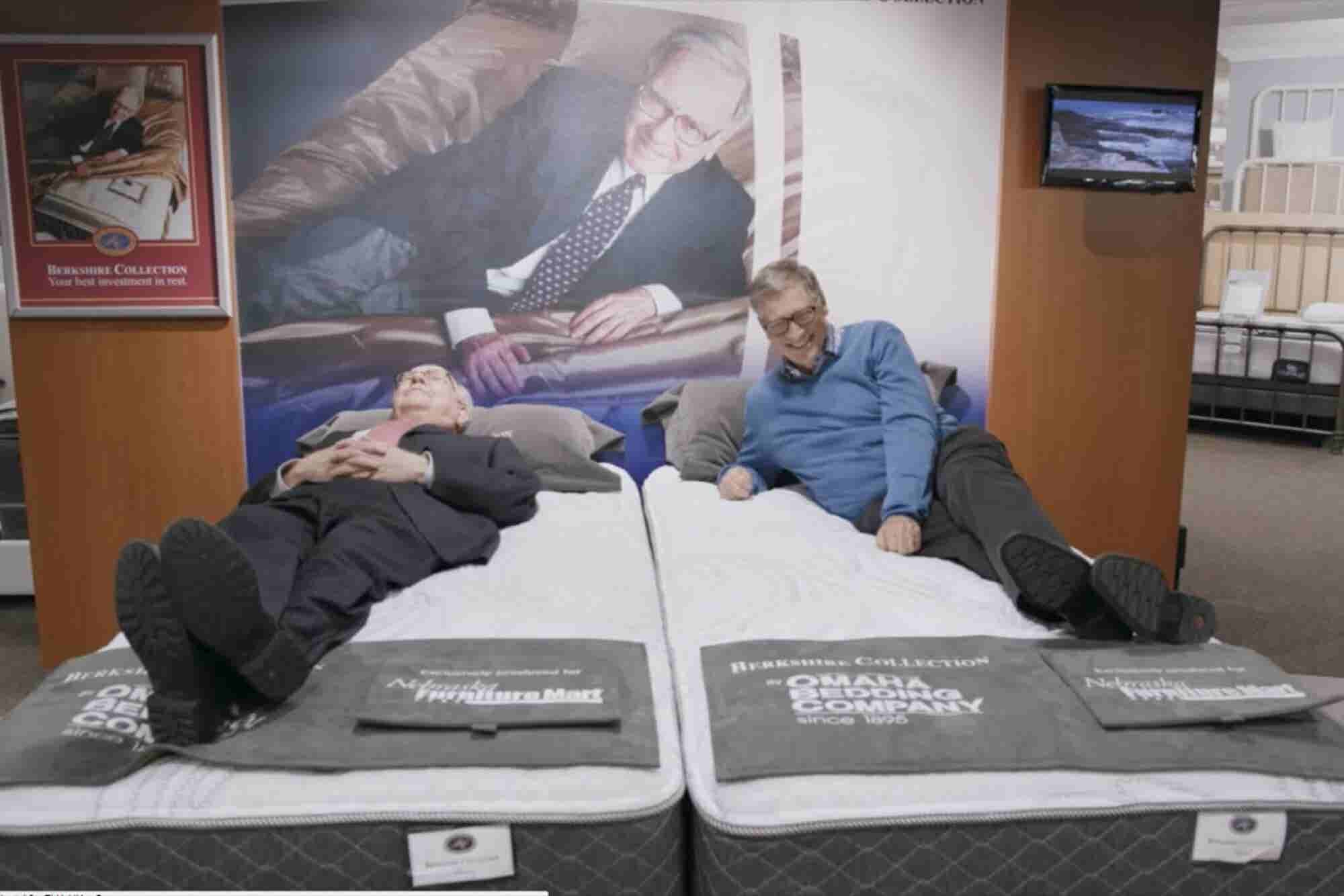 Billionaire Buds Bill Gates and Warren Buffett Even Like to Test Out Mattresses Together