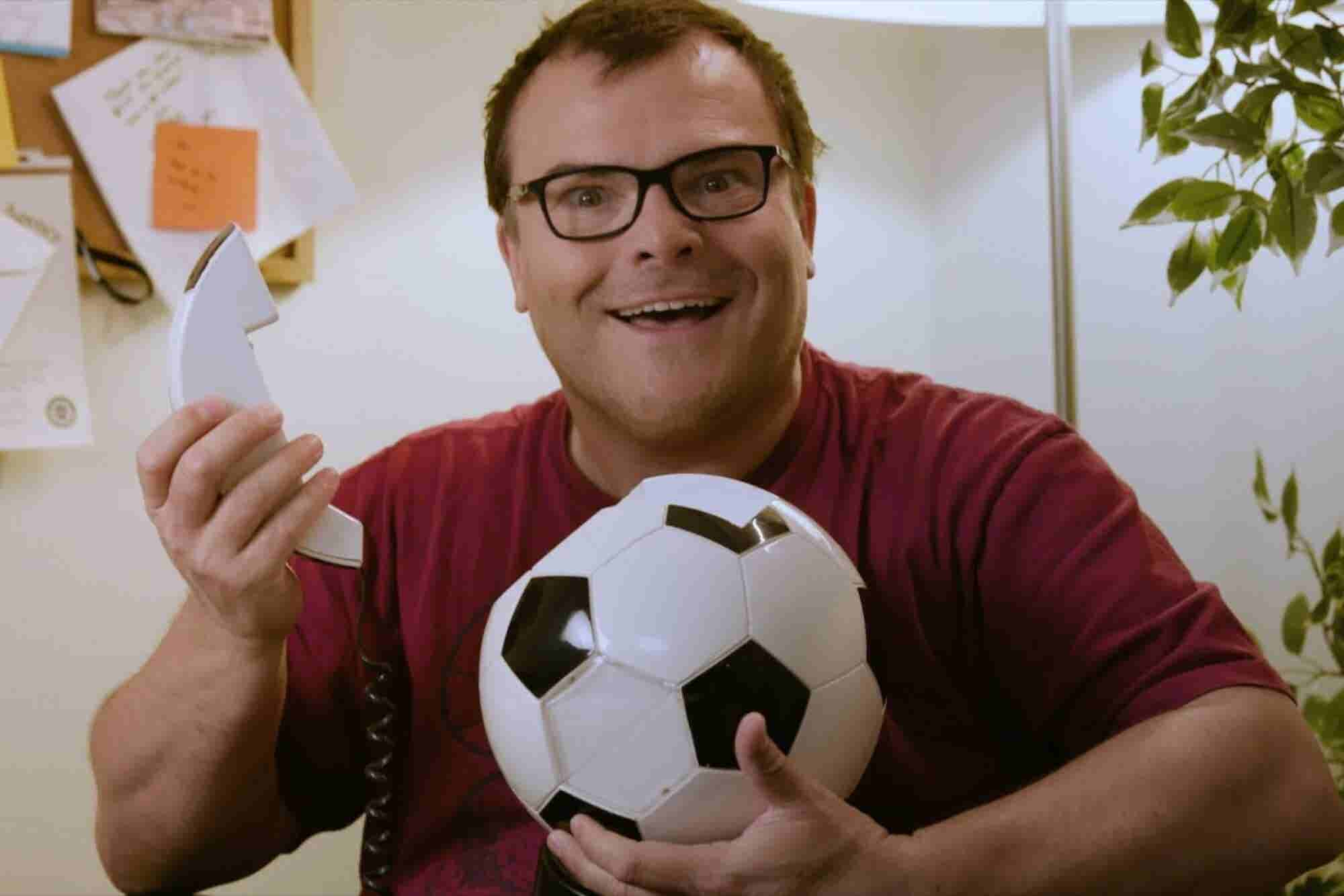 Jack Black Really Wants You To Have a Soccer Ball Phone