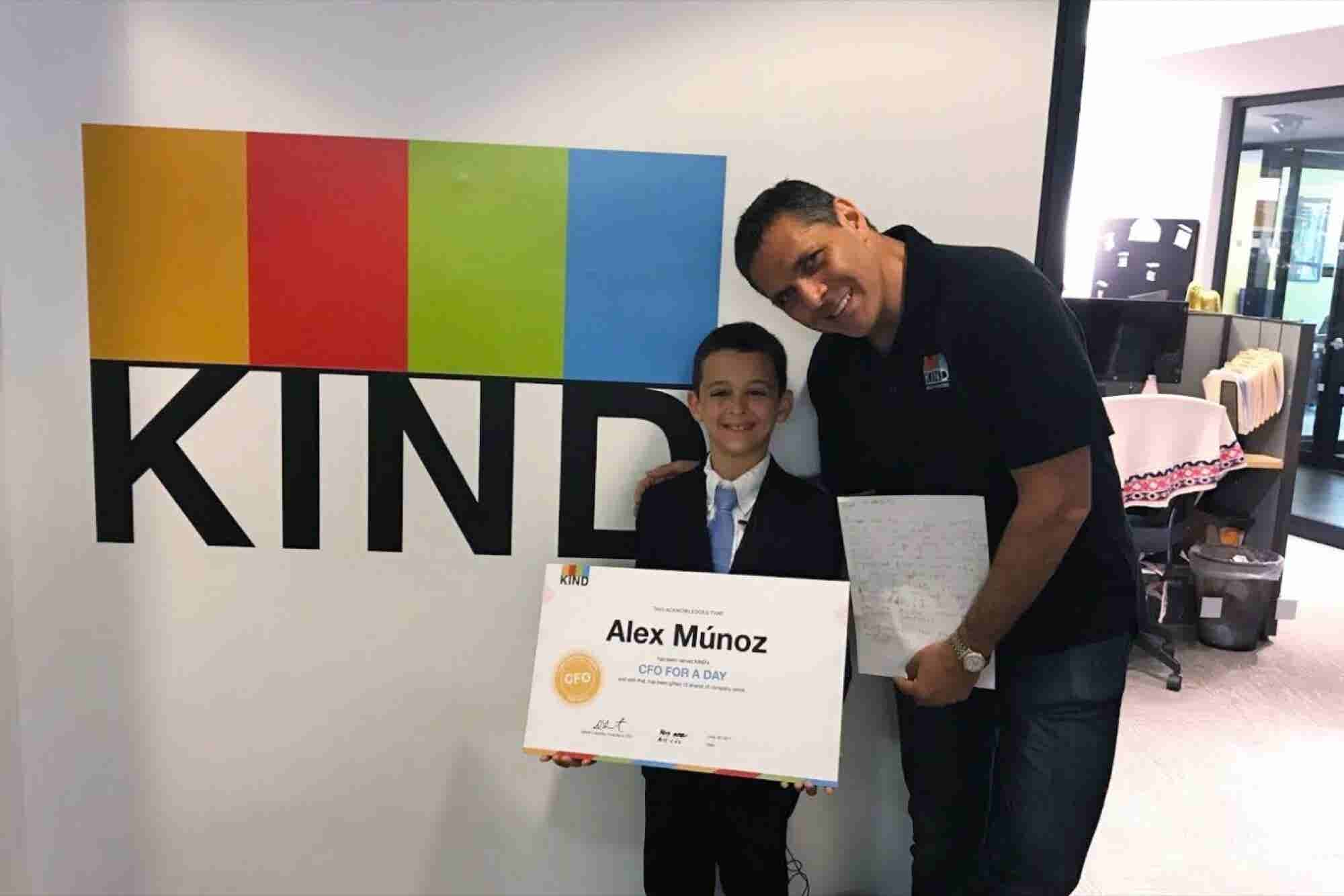 This 9-Year-Old Boy Became KIND's CFO for the Day and Learned an Amazing Lesson