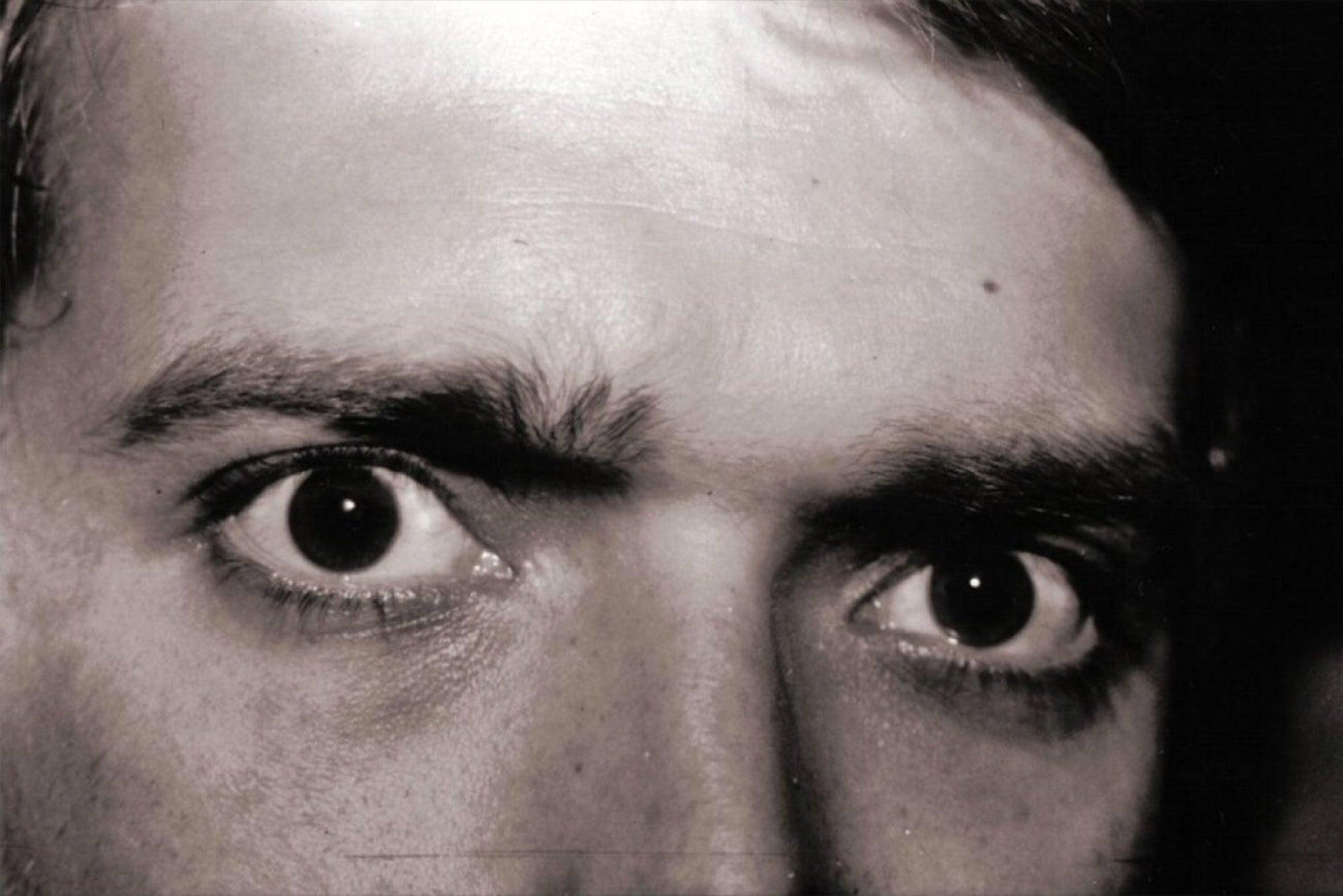 Intimidating eye contact