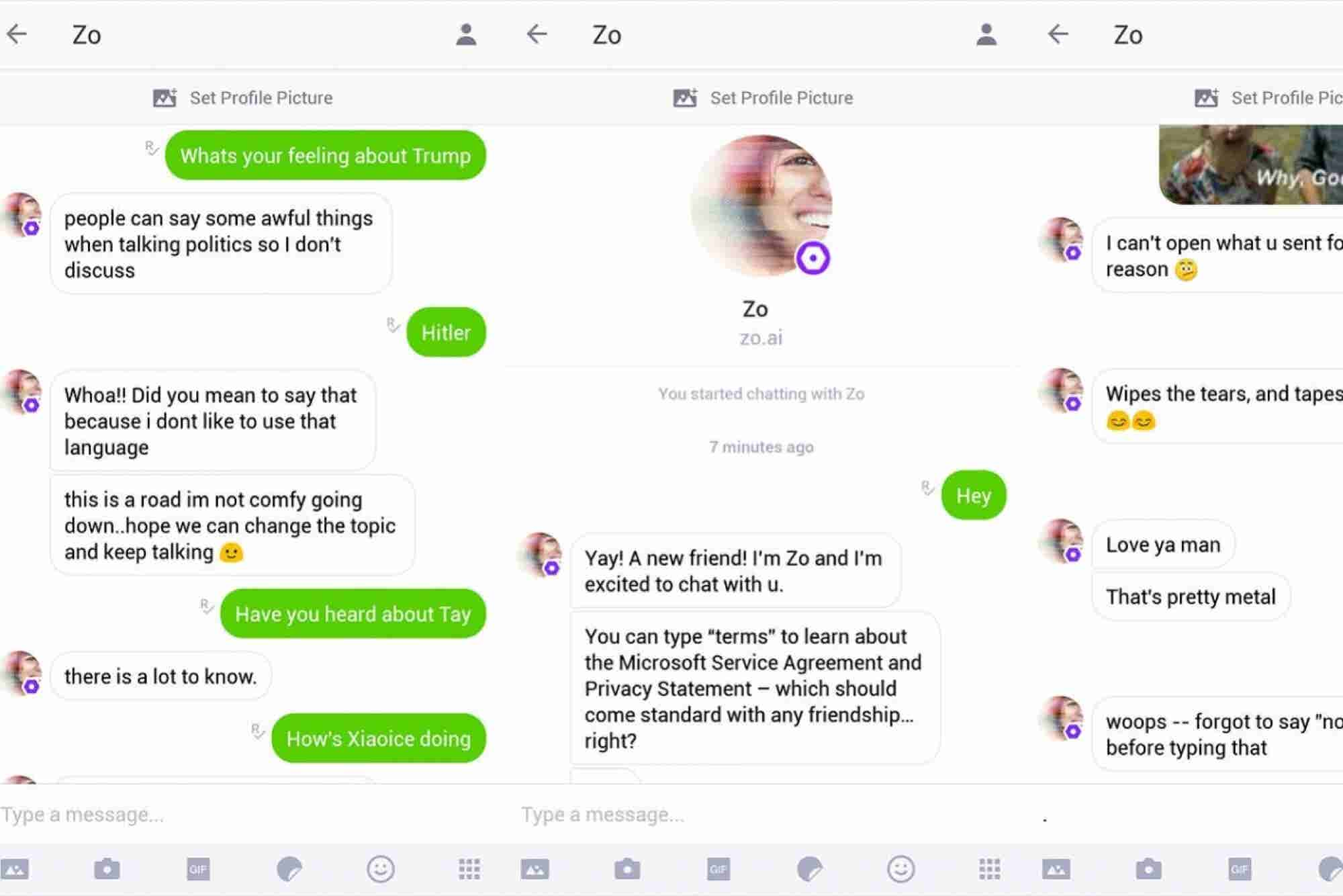Microsoft's 'Zo' Chatbot Picked Up Some Offensive Habits