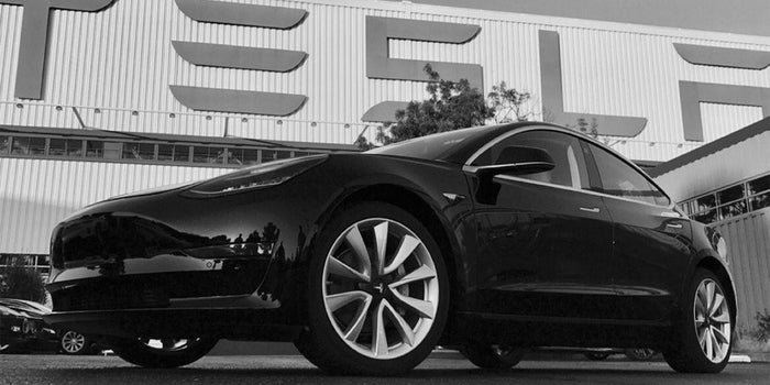 First Tesla Model 3 Rolls Off Production Line