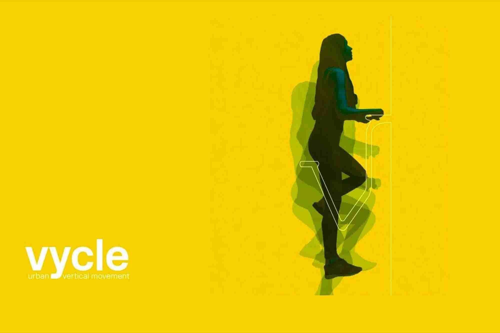 Vycle Replaces Lifts and Stairs With a Vertical Bike