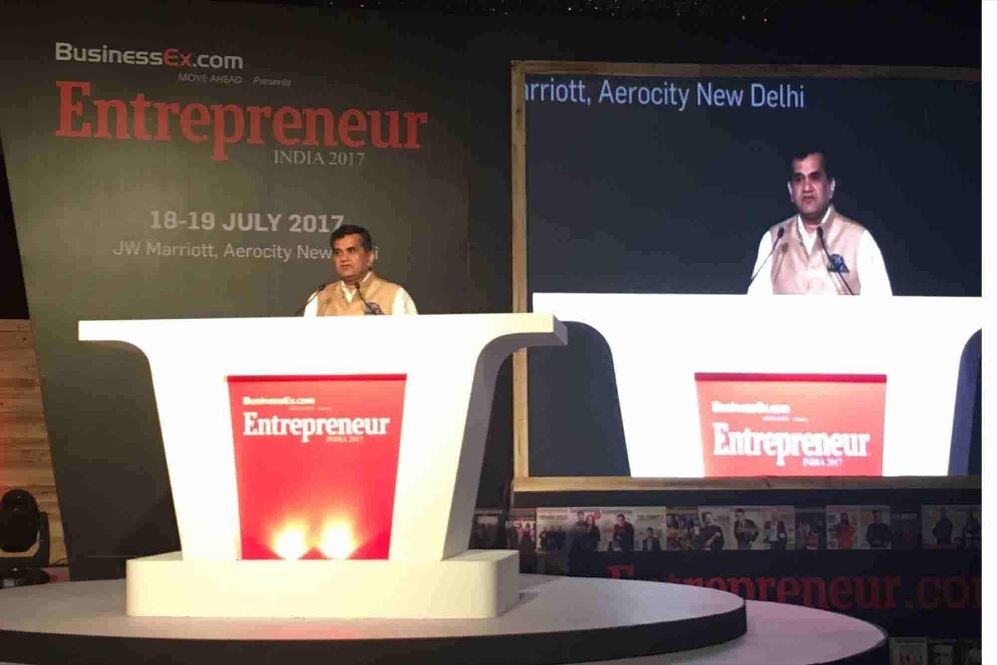 Amitabh Kant Urges Young Entrepreneurs to Penetrate Global Market, Says No Shortage of Funds