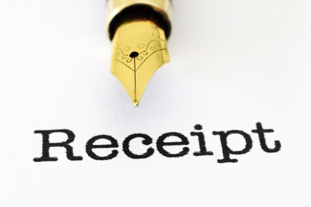 Make notes on receipts about their business purpose