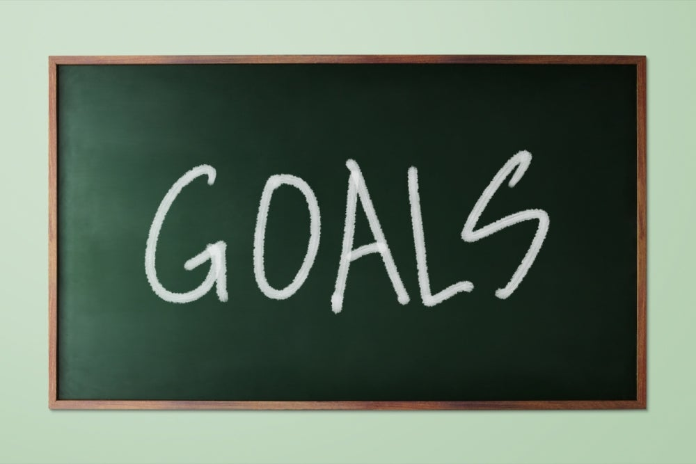Neglecting to set goals