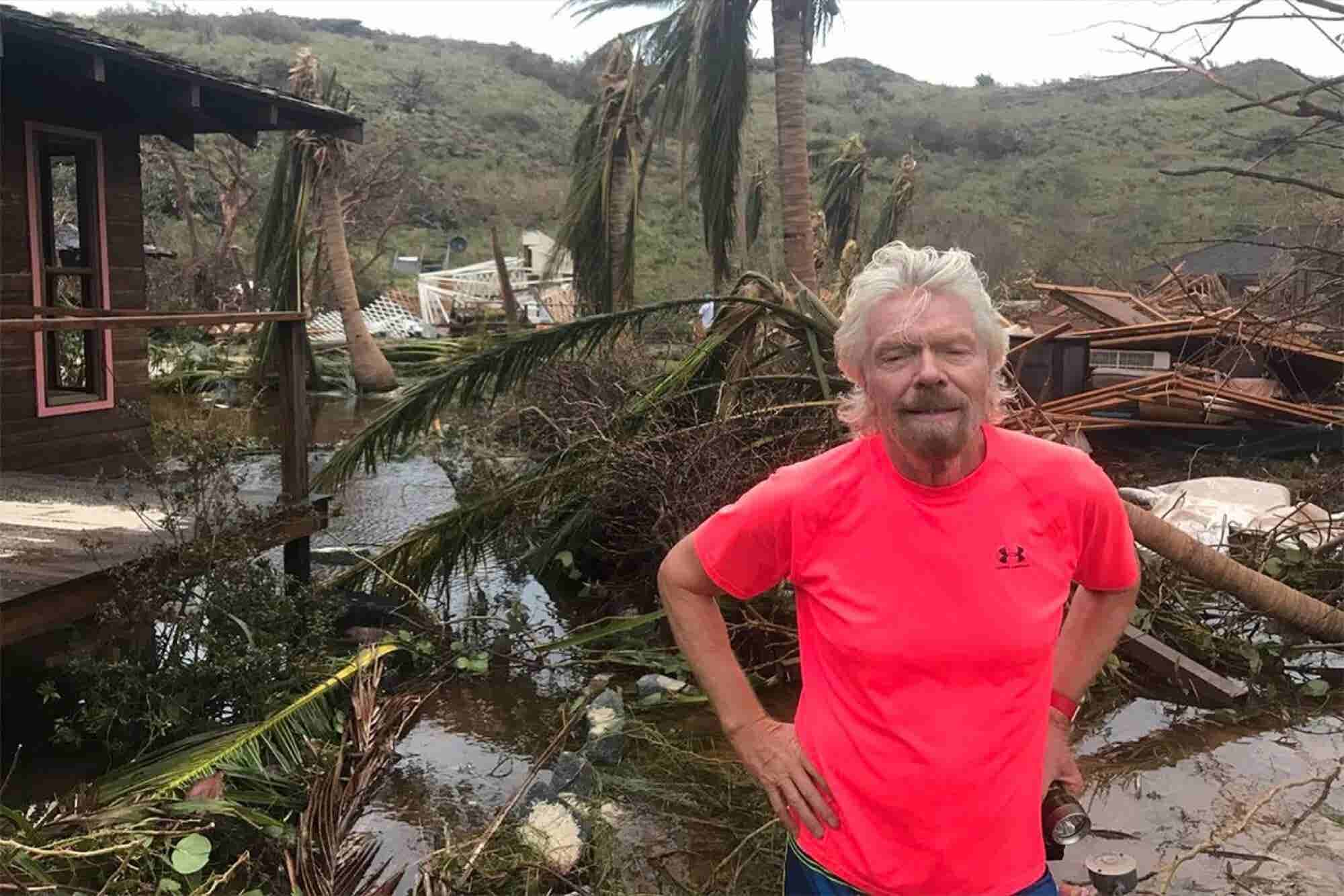 Here's How Richard Branson Survived Hurricane Irma and How He's Helpin...