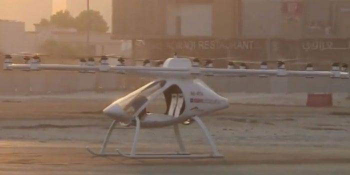 Los taxis voladores llegan a Dubái