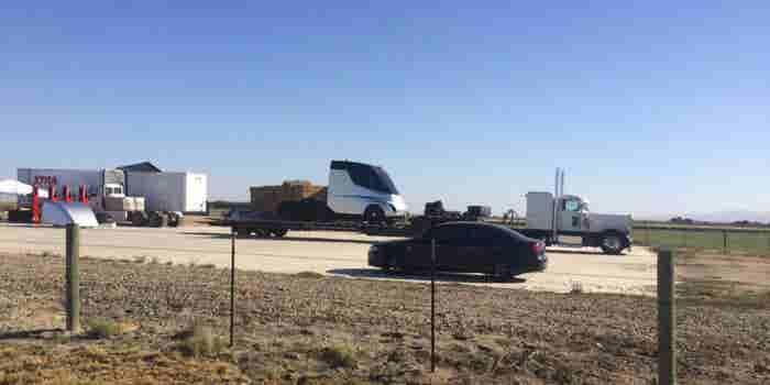 ¿Se verá así el camión eléctrico de Tesla?