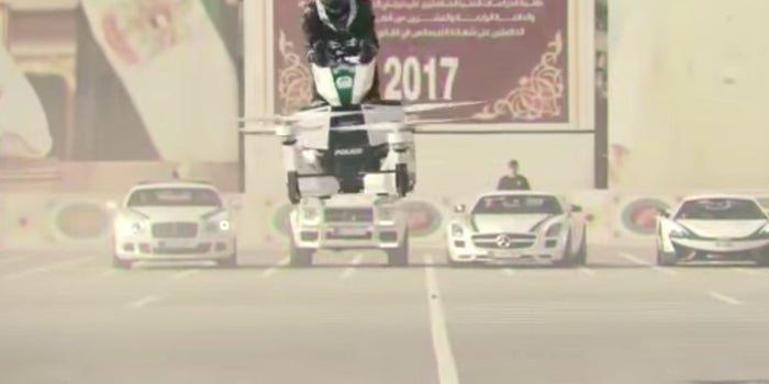 Check Out This Futuristic, and Dangerous Looking, Police Hoverbike