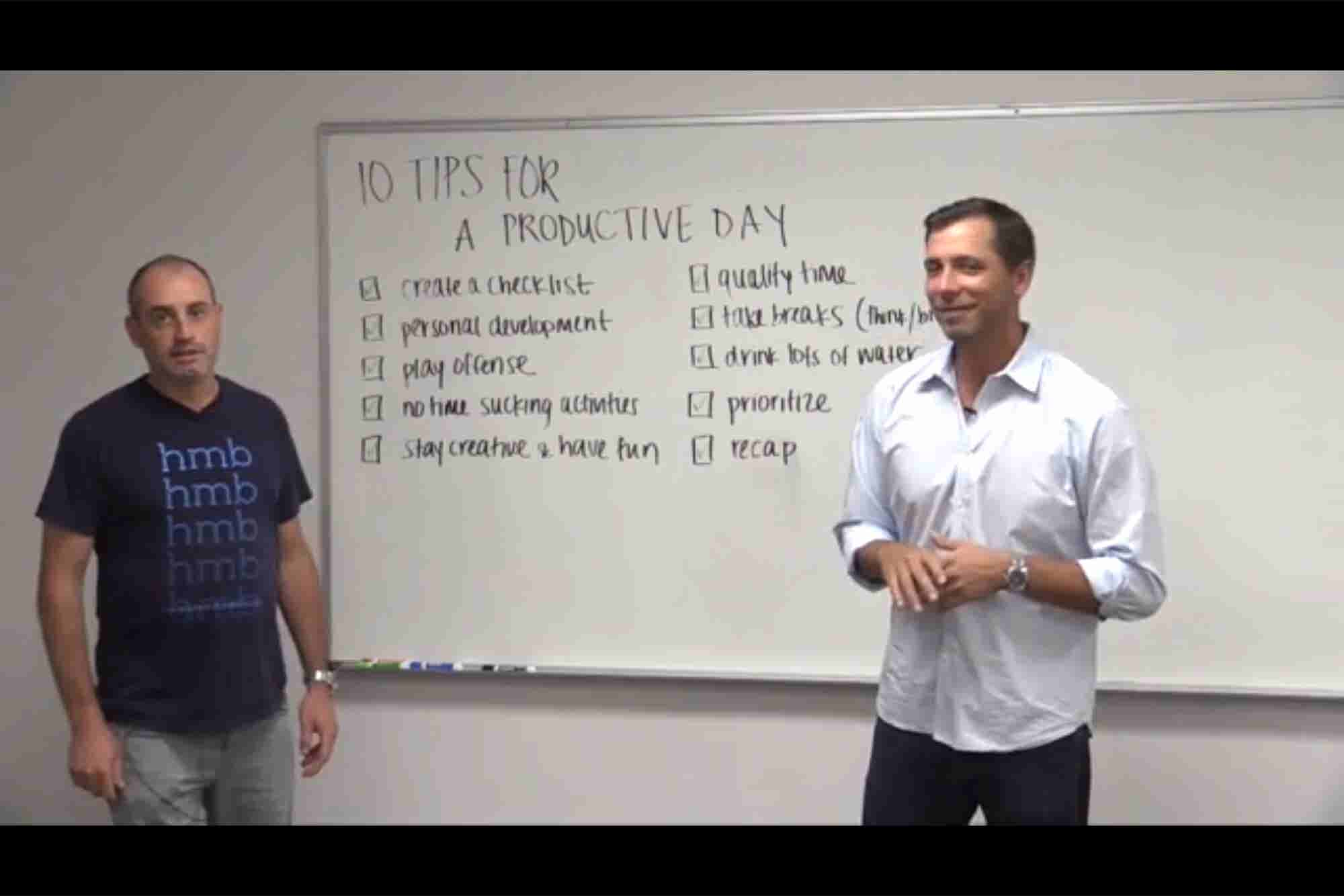 10 Tips for a Productive Day