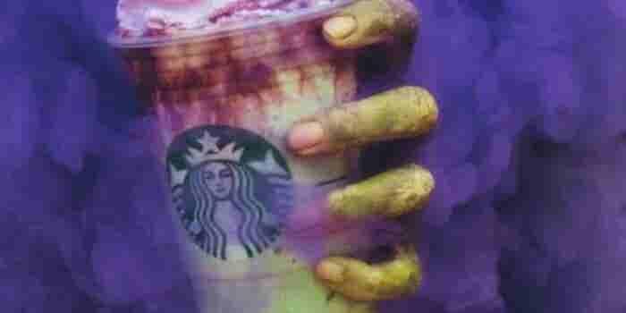 Zombie frappuccino, la nueva bebida de Starbucks que te dejará frío en Halloween