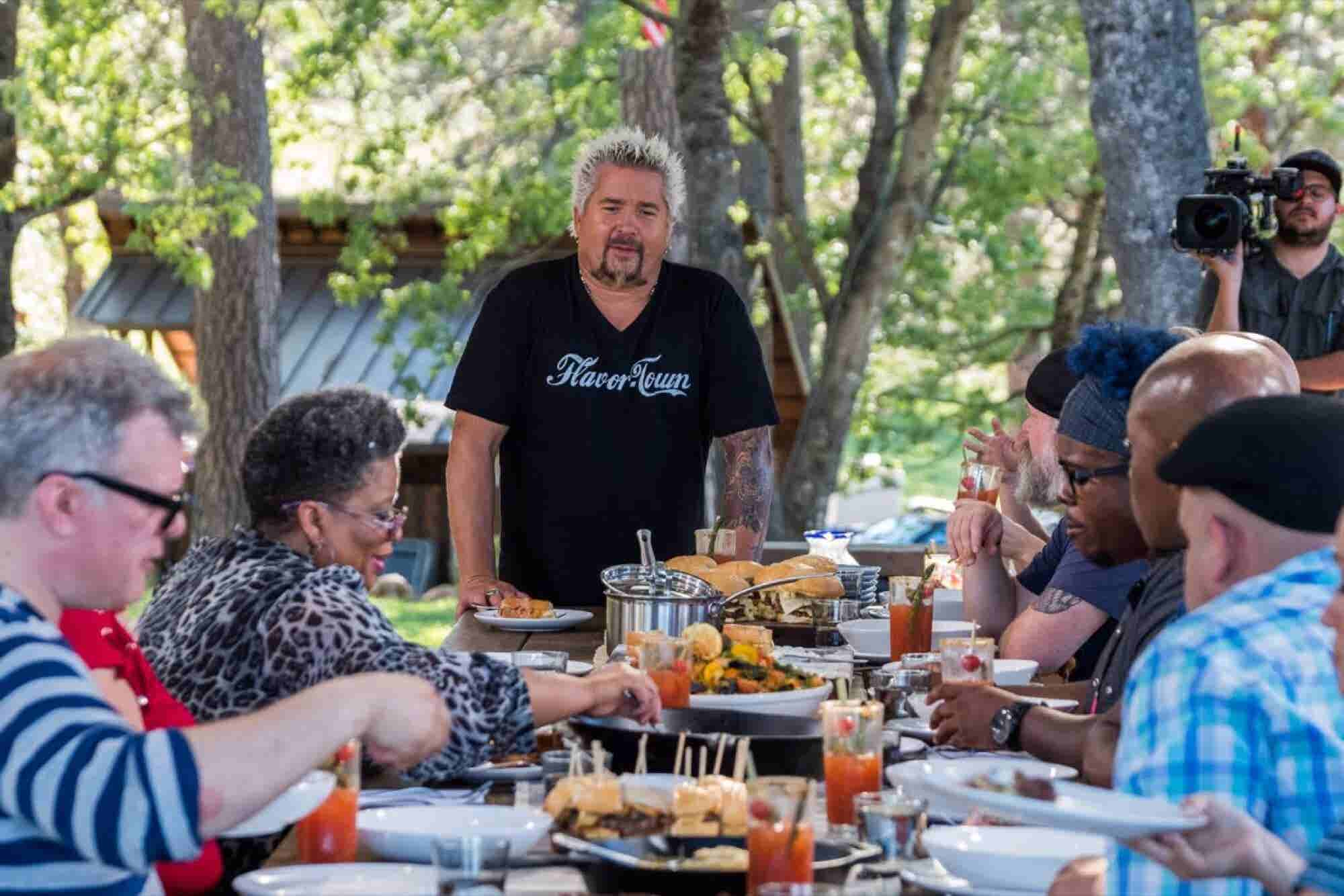 Here Is Guy Fieri's Cure for Camera Shyness