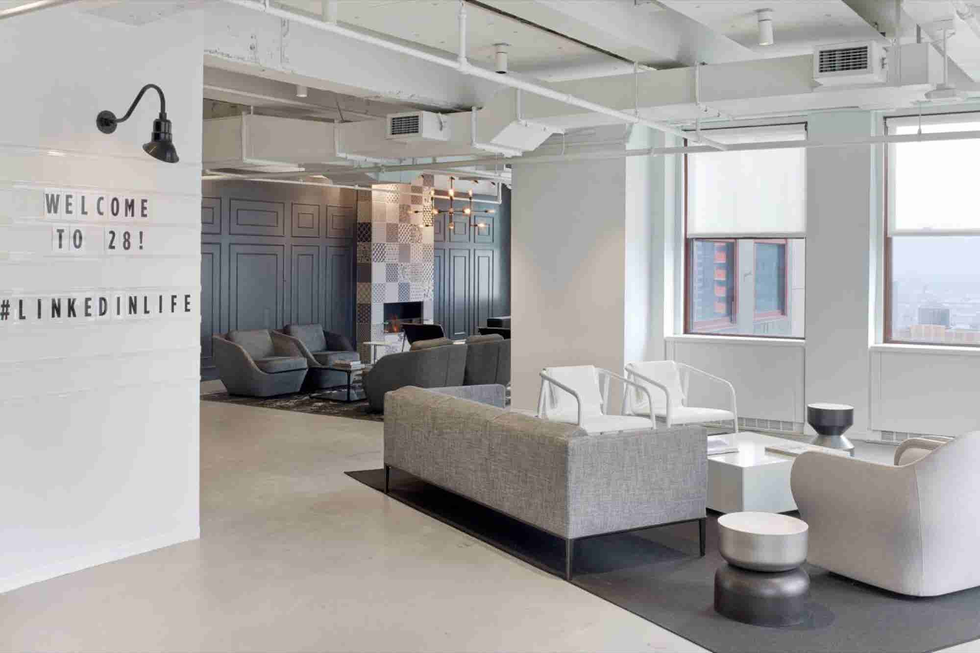 Tour LinkedIn's New York Offices, Where There's a Speakeasy and a Movi...