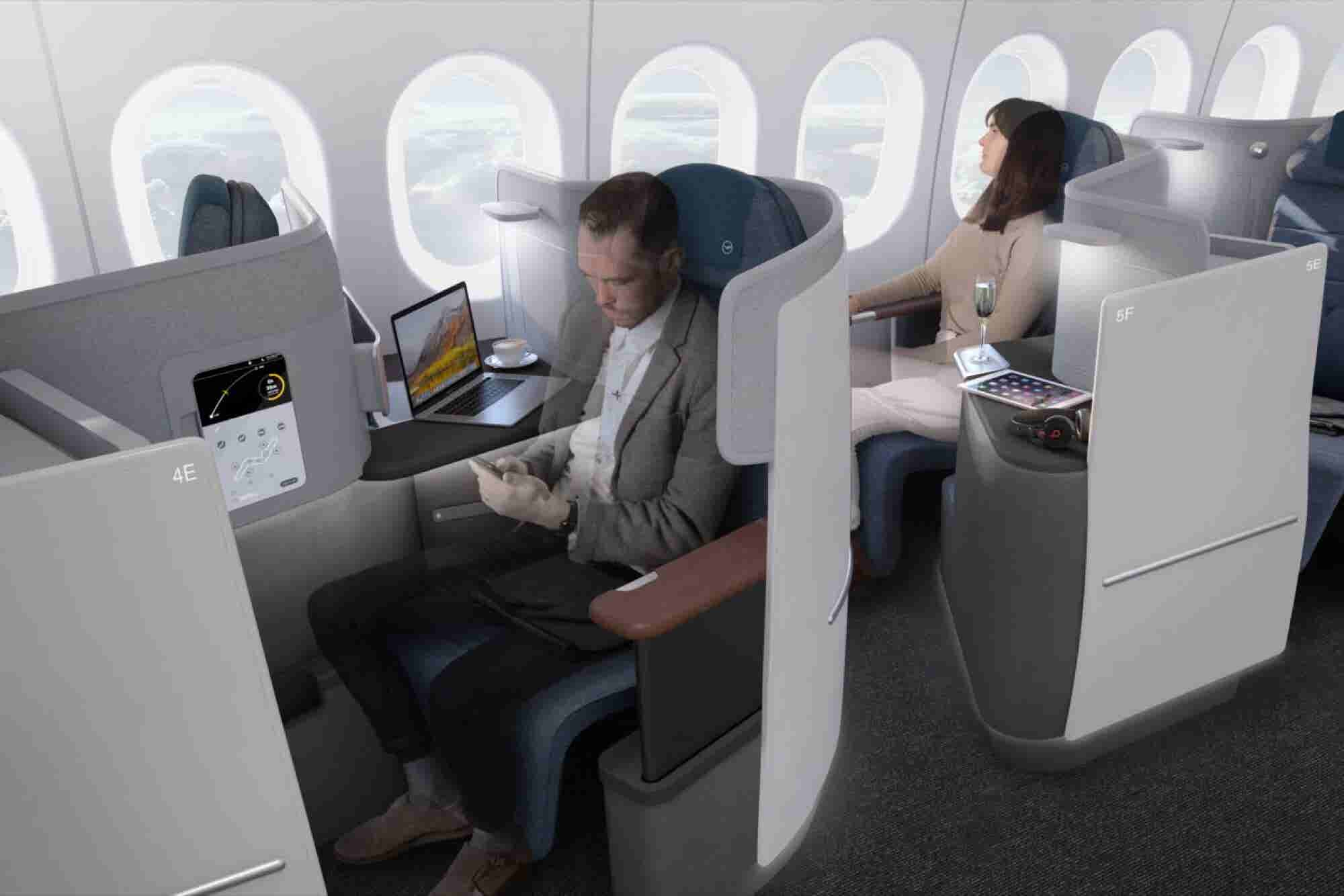 New Lufthansa Business-Class Seats Will Offer You a Choice of a Bed or Big Desk