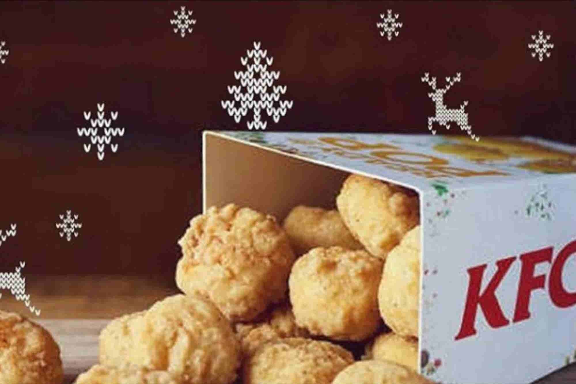 La divertida y rara estrategia de KFC para que disfrutes la Navidad en familia