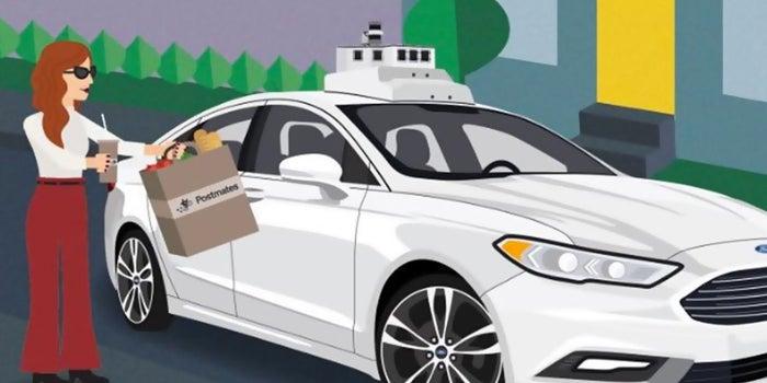 Order Postmates? It Might Arrive Via an Autonomous Ford.