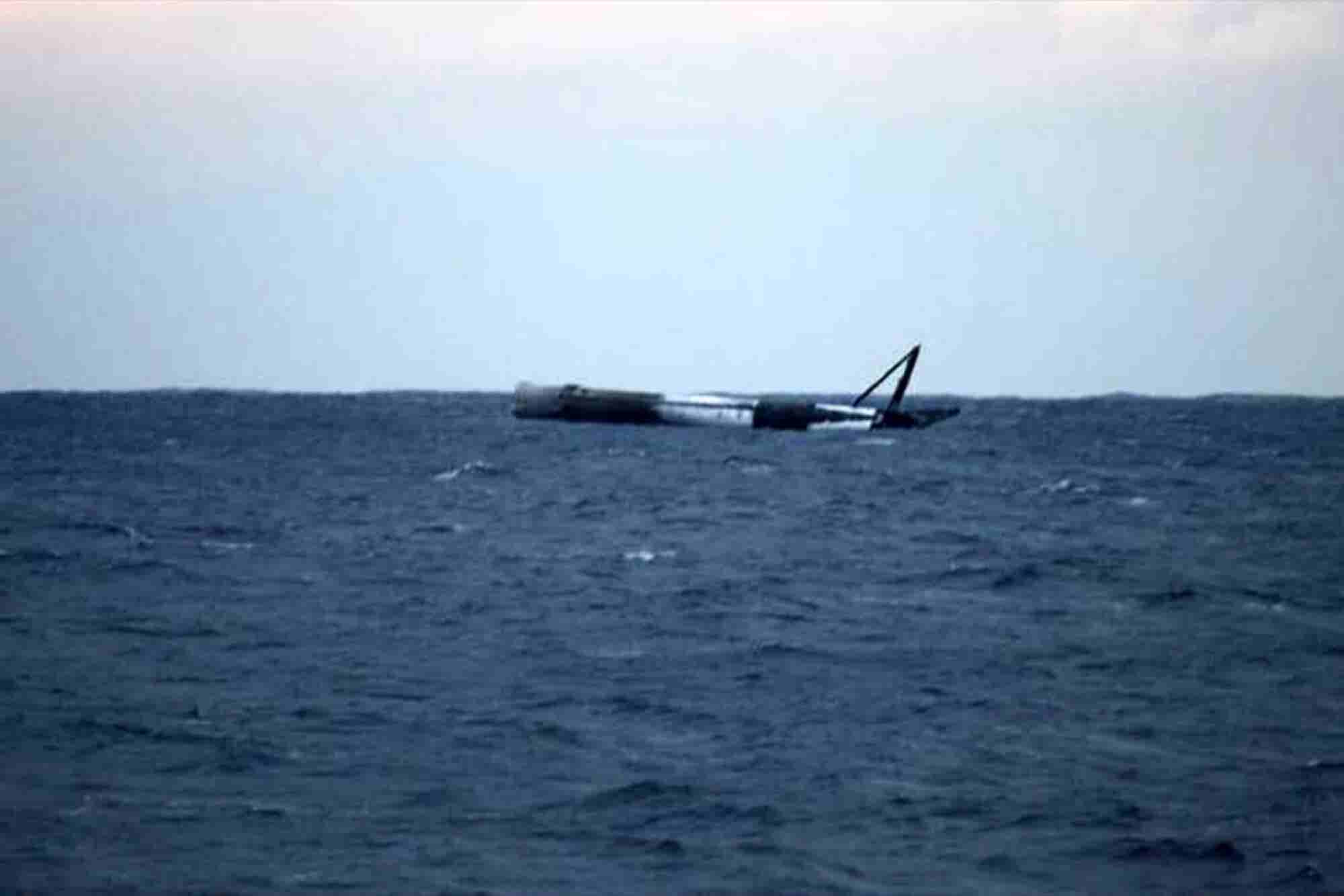 SpaceX Rocket Survives an Intentional Water Landing