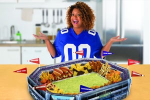 Here's How Celebrity Chef Sunny Anderson Brought Her Super Bowl-Ready Snack Stadium to Market