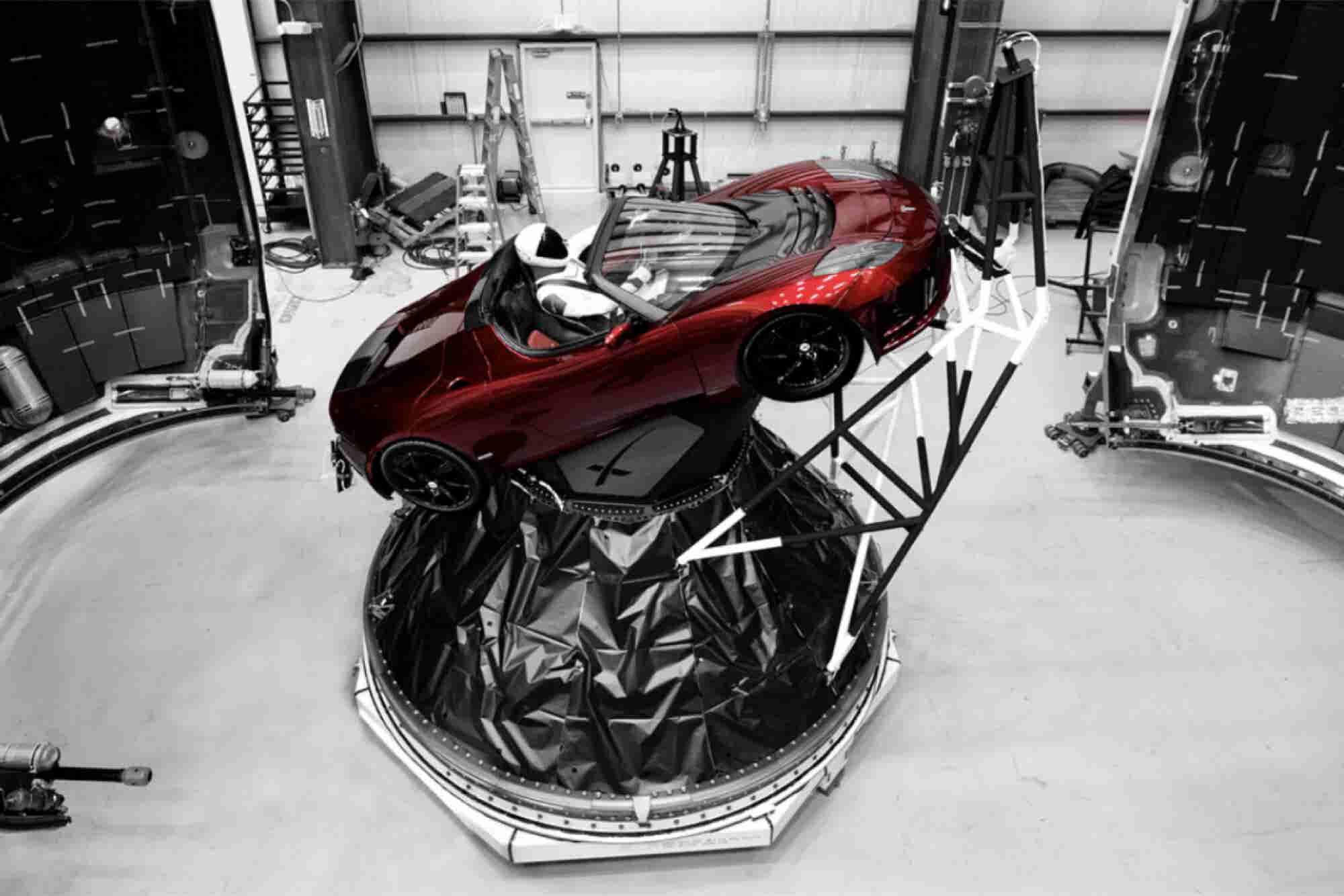 El Tesla Roadster de Elon Musk llega a Marte