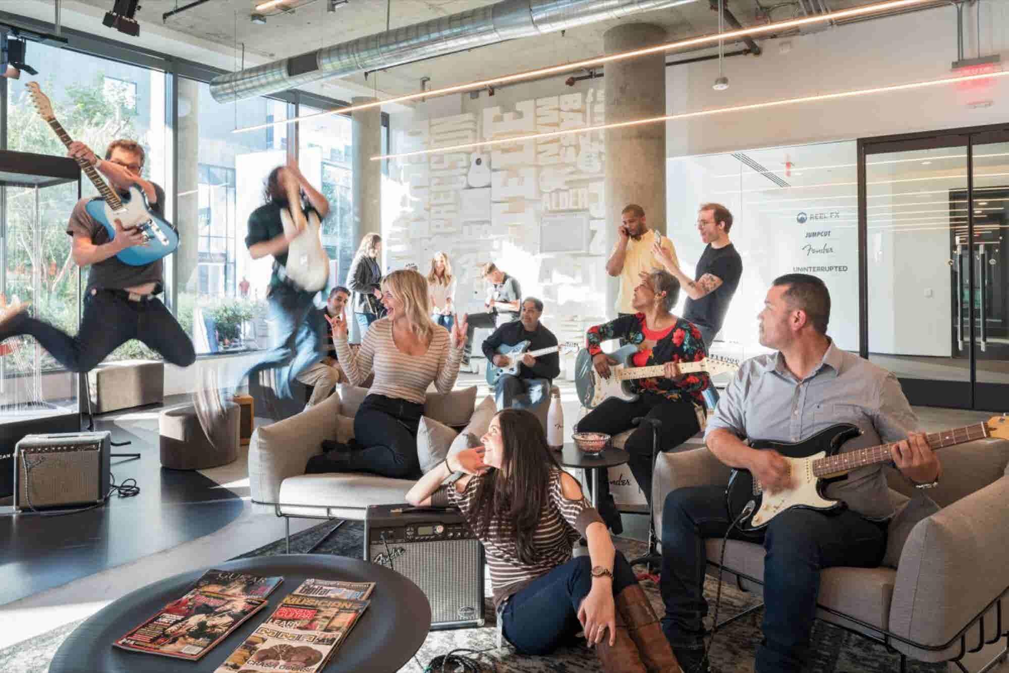 Rocking Out Inside Fender's Office