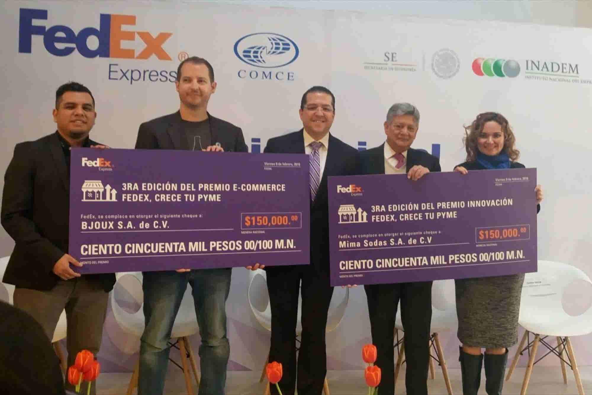 INADEM y FedEx premian a dos Pymes innovadoras