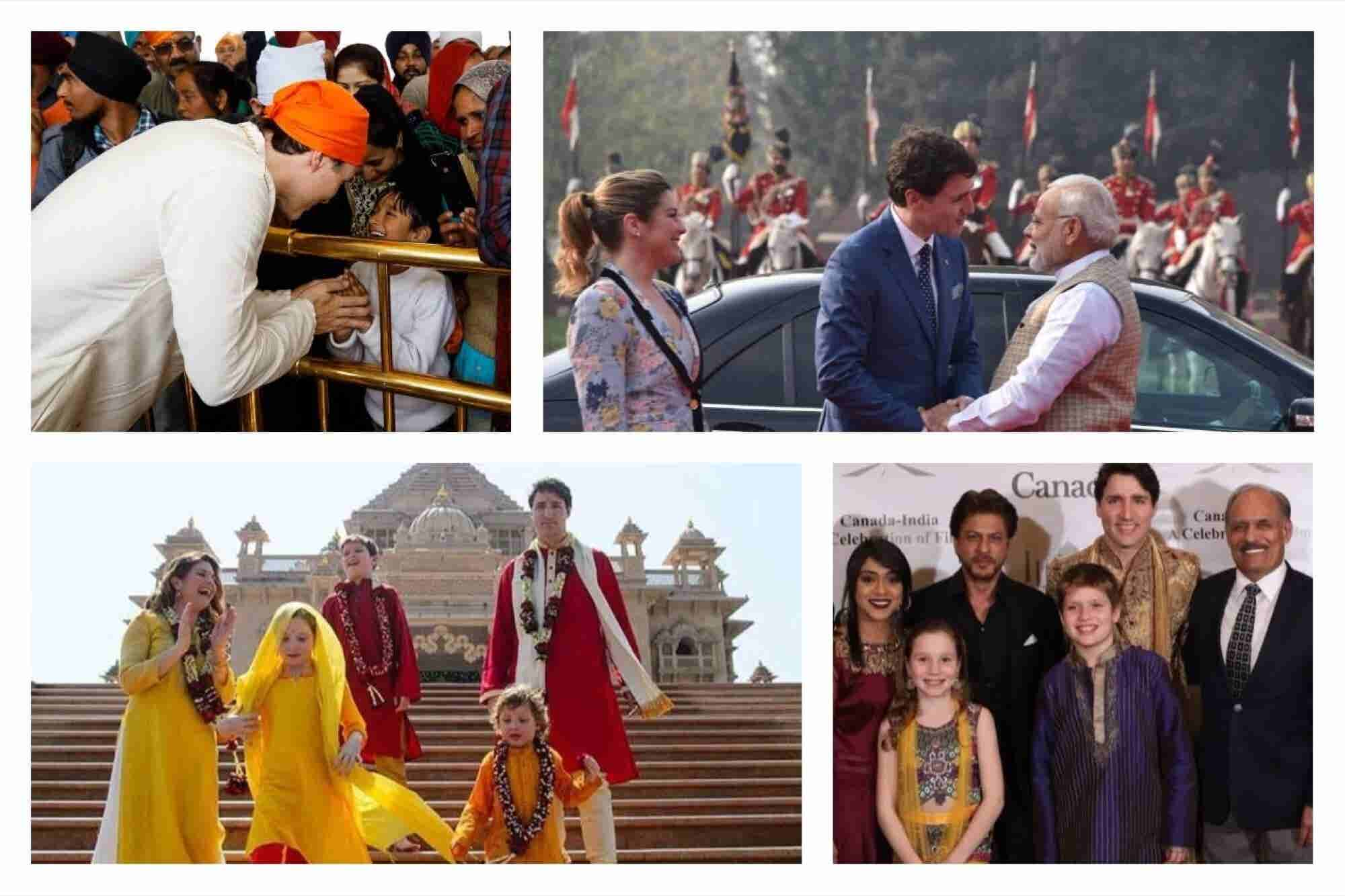 Canadian PM Justin Trudeau in His Many Hues of India