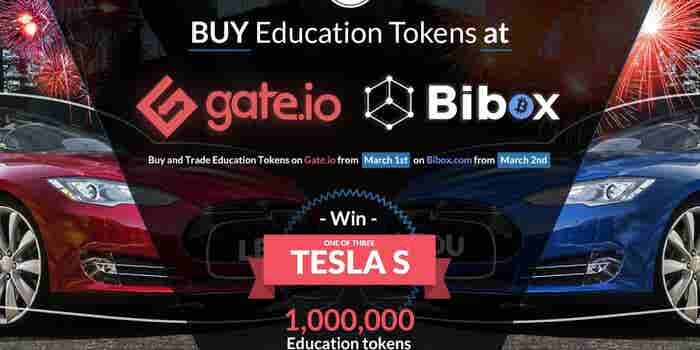 Education Ecosystem Announces Token Exchange Listings and Chance to Win Three Tesla Model S Cars
