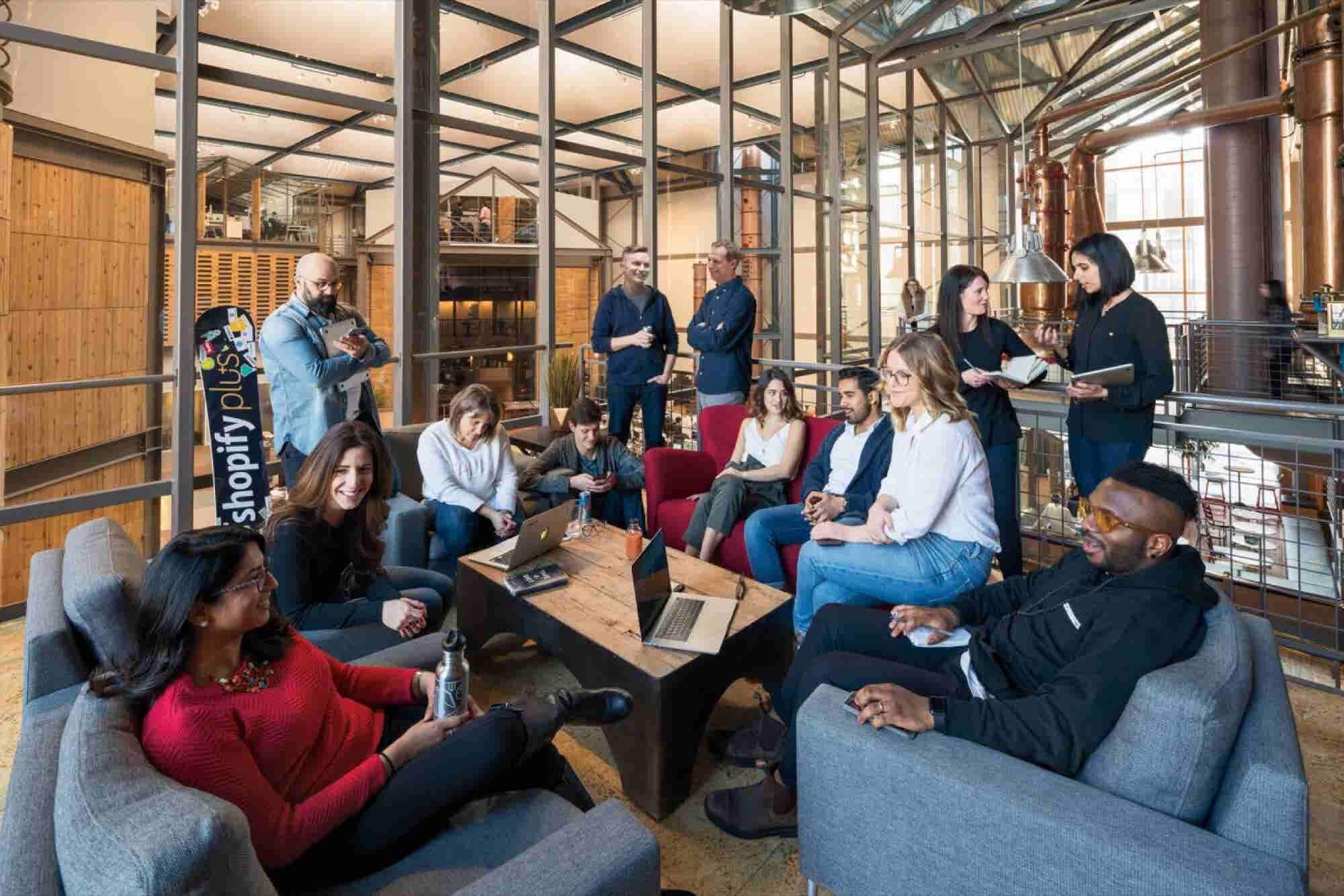 Inside Shopify's Intoxicating Distillery-Turned-Office Space