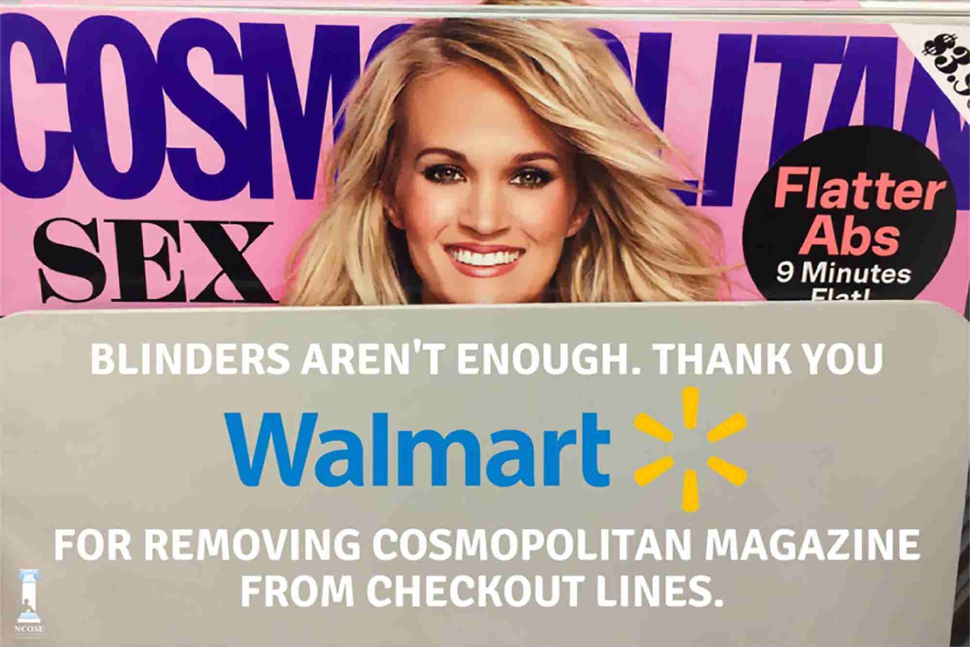 Walmart Is Pulling Cosmopolitan From Checkout Lines in Response to #MeToo -- But It's an Embarrassing Perversion of the Movement