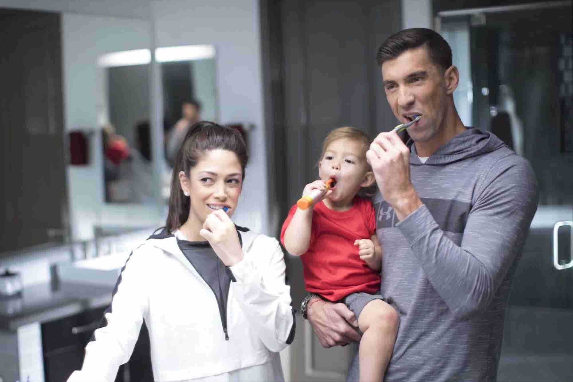 Michael Phelps Even Brushes His Teeth Better Than You Do